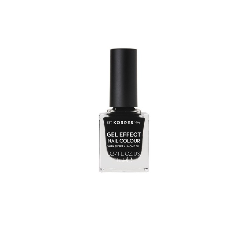 Korres Gel Effect Nail Color 100 Black 11Ml