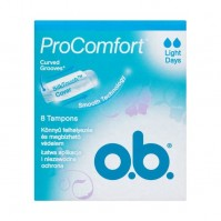 O.B. Pro Comfort Light Days 8 Tampons