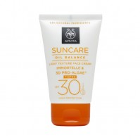 Apivita Suncare Oil Balance Tinted Face Cream Spf30, 50Ml