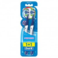 Oral-B Οδοντόβουρτσα 5 Way Clean Complete Medium 40 1+1