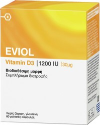 Eviol Vitamin D3 1200IU 60 Softgels