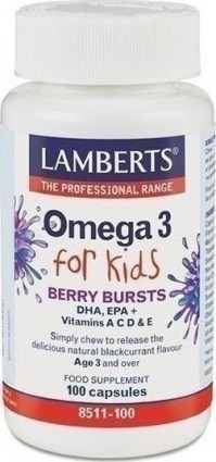 Lamberts Omega 3 For Kids (Berry Bursts) 100 tablets