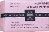 Apivita Σαπούνι Με Τριαντάφυλλο & Μαύρο Πιπέρι 125gr