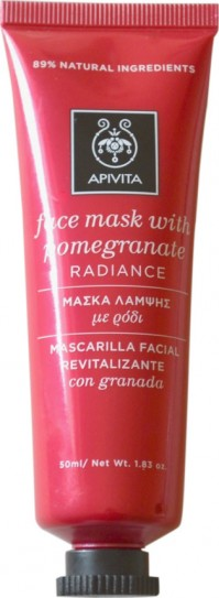 Apivita Μάσκα Λάμψης Με Ρόδι 50Ml