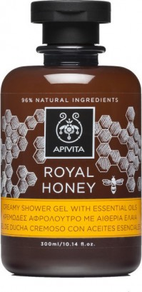 Apivita Κρεμώδες Aφρόλουτρο Με Aιθέρια Έλαια Royal Honey 300ml