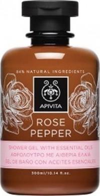 Apivita Aφρόλουτρο Με Aιθέρια Έλαια Rose Pepper 300ml