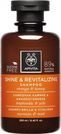 Apivita Shampoo Shine & Revitalizing Orange & Honey 250Ml