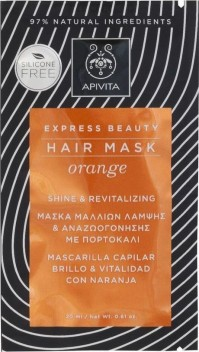 Apivita Hair Mask Orange Shine & Revitalizing Hair 20Ml