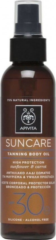 Apivita Sunbody Oil Spf 30 150Ml