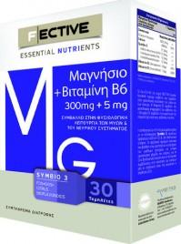 F Ective Magnesium 300mg + B6 5mg 30Tabs