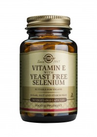 Solgar Vitamin E With Yeast Free Selenium 50 Veg.Caps