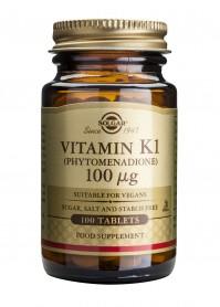 Solgar Vitamin K1 100Mcg Tabs 100S