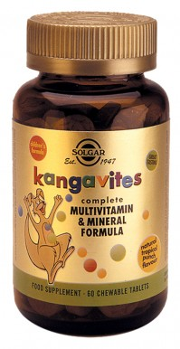Solgar Kangavites Multivitamin & Mineral Formula Tropical Punch Chewable Tabs 60