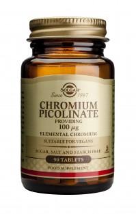 Solgar Chromium Picolinate 100Mcg Tabs 90S