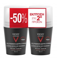 Vichy Homme Deodorant Duo Anti-Transpirant Roll-On 72H 2X50Ml