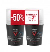 Vichy Homme Deodorant Duo Anti-Transpirant Roll-On 48h 2X50Ml