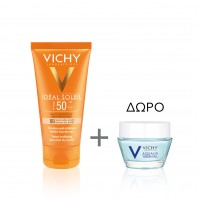 Vichy Ideal Soleil Dry Touch Tinted Spf50 50Ml & ΔΩΡΟ Aqualia Night Spa 15Ml
