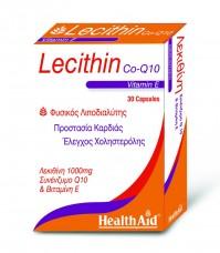 Health Aid Lecithin 1000Mg & Coq10 & Natural Vitamin E 30 Caps