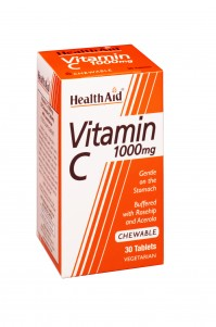 Health Aid Vit C 1000Mg Chewable Rosehip 30Tabs