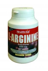 Health Aid L-Arginine 500Mg 60Tabs