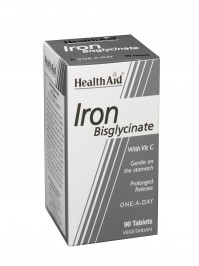 Health Aid Iron Bisglycinate 90Tabs