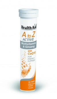 Health Aid A to Z Active Multi & Ginseng Tutti Frutti 20effervent tabs