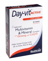 Health Aid Day-vit Active Plus Co-Q10 & Ginseng 30Caps