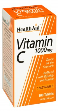 Health Aid Vitamin C 1Gr Chewable 100Tabs