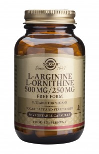 Solgar L-Arginine 500mg & L-Ornithine 250mg 50caps