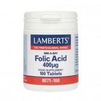 Lamberts Folic Acid 400Mcg 100 Tabs
