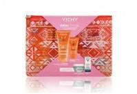 Vichy Πακέτο Ideal Soleil Sun Screen Velvet (SPF50) 50ml & Ideal Soleil Body Milk-Gel (SPF50) 200ml & Δώρο Mineral 89 5ml, Μάσκα Ενυδάτωσης 15ml