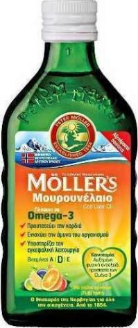 Mollers Μουρουνέλαιο με γεύση Tutti Frutti, 250 ML