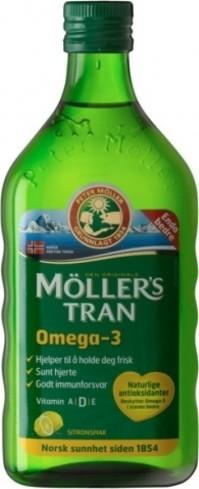 Mollers Μουρουνέλαιο με γεύση λεμόνι, 250ml