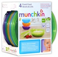 Munchkin 4 Fresh Food Bowls And Lids