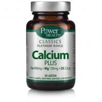 Power Health Classics Platinum - Calcium Plus, 30 Δισκία
