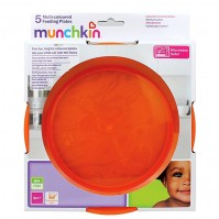 Munchkin 5 Pack Multi Coloured Feeding Plates