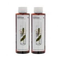 Korres Σετ Σαμπουάν Για Πιτυρίδα\Ξηροδερμία Με Δάφνη και Echinacea 1+1 250ml