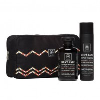 Apivita Men's Care Gift Set - After Shave Balm with Hypericum & Propolis 100ml & Hair & Body Wash with Cardamom & Propolis 250ml