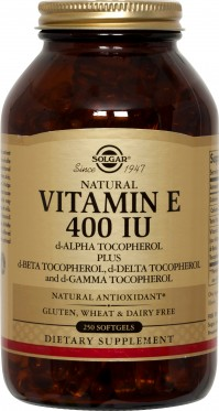Solgar Vitamin E Natural 400Iu 250 Softgels