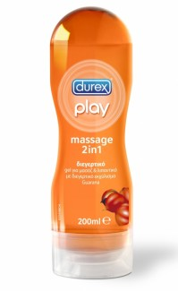 Durex Play Massage Gel 2in1 Διεγερτικό Gel Με Άρωμα Guarana 200Ml