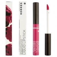 Korres Liquid Lipstick Βατόμουρο 22 Τριανταφυλλί 3.5Ml