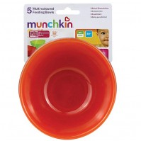 Munchkin 5 Pack Multi Coloured Feeding Bowls