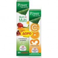 Power Health Multi+Multi 24 Effervescent Tabs + Vitamin C 300mg 20 Effervescent Tabs