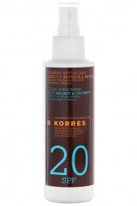 Korres Sun Clear Spray Oil Spf20 150Ml