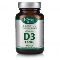 Power Health Classics Platinum - Vitamin D3 1.000Iu 60 Δισκία