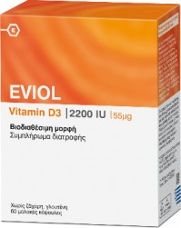 Eviol Vitamin D3 2200IU 60 Softgels