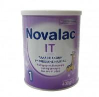 4cb435b957b Novalac IT 1 Γάλα Σκόνης Πρώτης Βρεφικής Ηλικίας Έως Τον 6o Μήνα Για Την  Δυσκοιλιότητα 400g